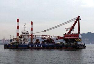 grue portuaire SUMITOMO SKK 500TON FLOATING CRANE(15M3 BUCKET CAPACITY)